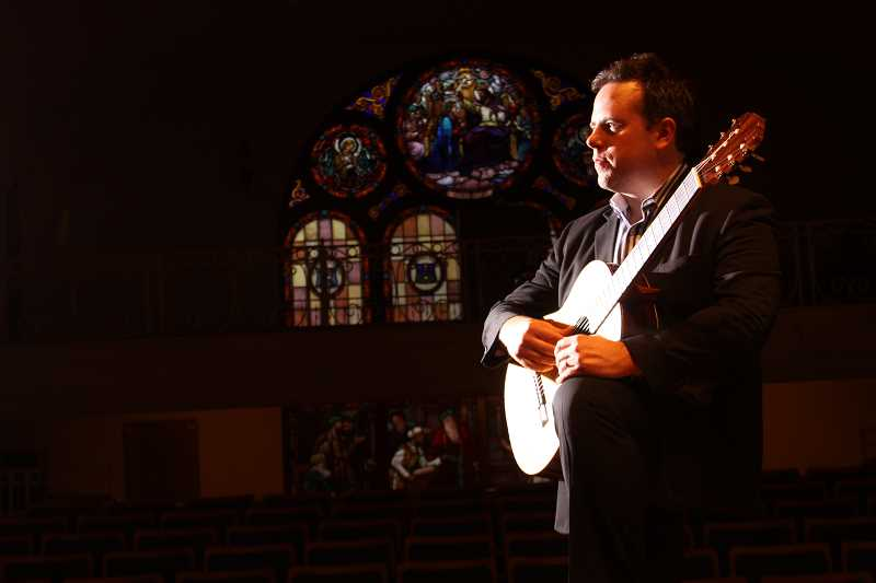 by: SUBMITTED PHOTO - William Jenks, guitarist and founder of Portland Classic Guitar, will present two concerts at Wiegand Hall on the Marylhurst University campus Feb. 21 and 22.