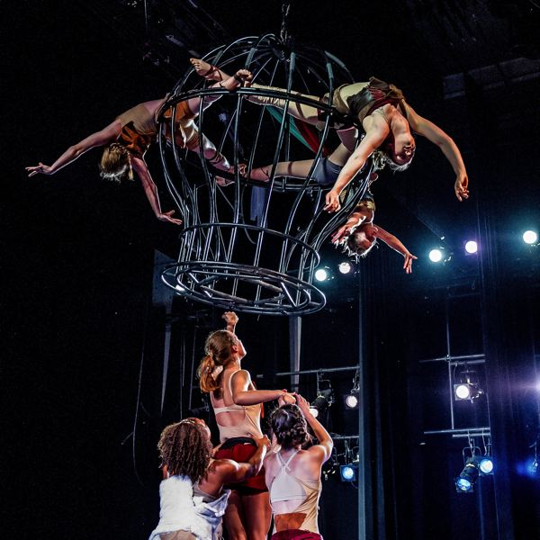 by: PHOTO BY DAVID ROSE PHOTOGRAPHY  - Local students age 13 to 21 who are part of The Circus Projects Training Company go for high drama at a performance in Seattle. Tickets to Cirque du Soleil's April 18 Totem show benefit The Circus Projects outreach efforts.