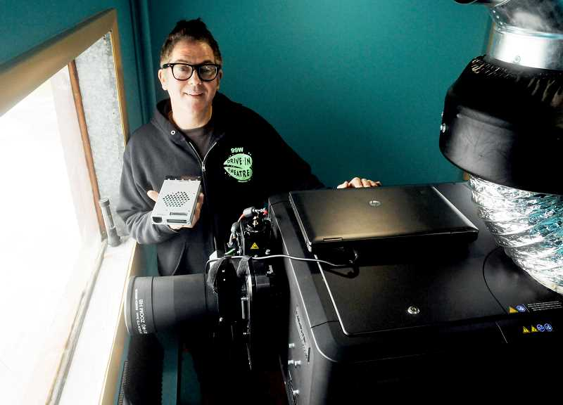 by: GARY ALLEN - New era - After winning Honda's Project Drive-In, 99W Drive-In received a new digital projector, necessary to continue showing new films. The new projector was installed last week. Now theater owner Brian Francis said he just needs to learn how to use it.