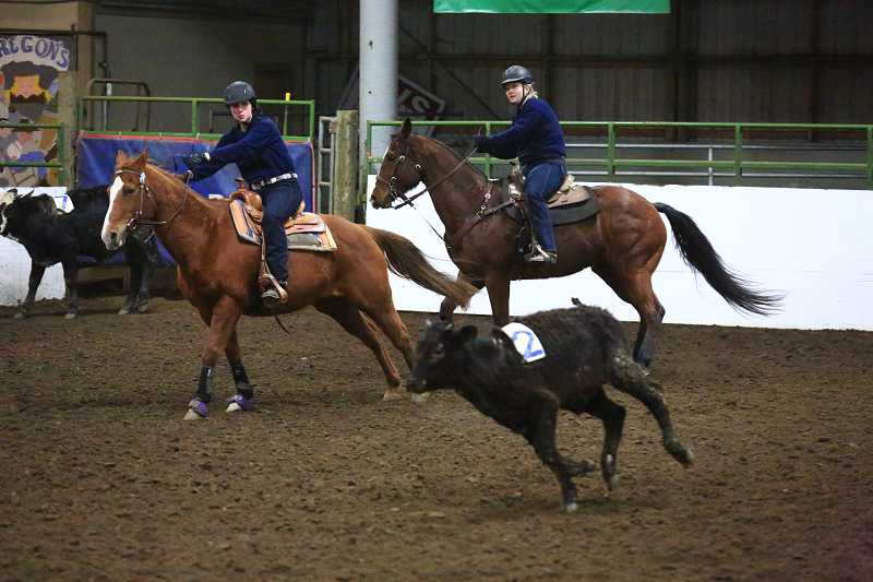by: SUBMITTED PHOTO - The Canby equestrian team won its first district meet Jan. 30 through Feb. 2 in McMinnville.