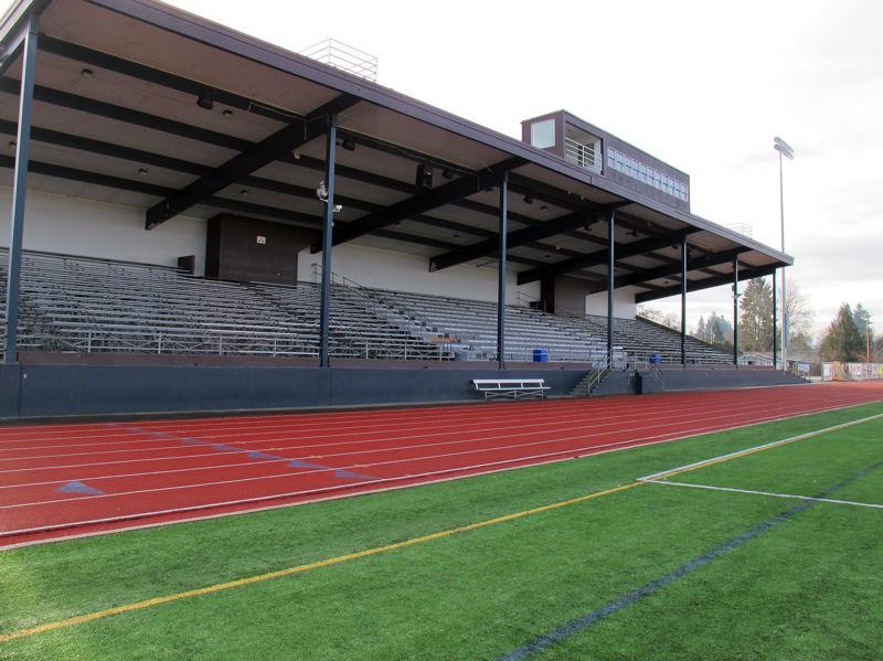 by: HILLSBORO TRIBUNE PHOTO: KATHY FULLER - The grandstands at Hare Field are in need of replacement. Built in 1968, the current grandstands cannot be used beginning fall of 2014.