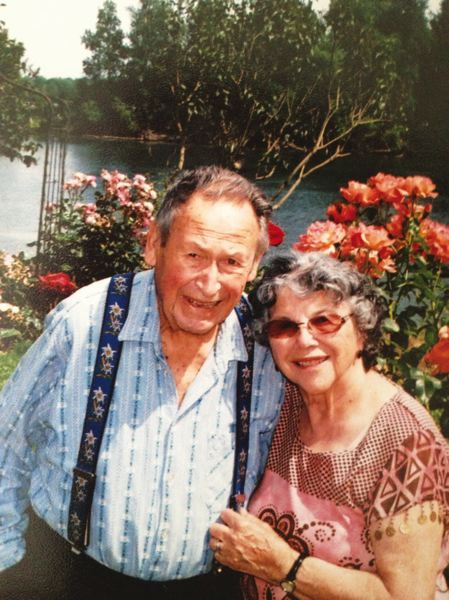 by: SUBMITTED PHOTO - Fred Bernet passed away Monday, Feb. 10. He is pictured here with his wife of more than 56 years, Mary Ellen Bernet.