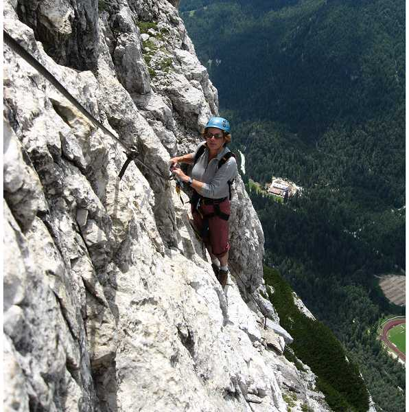 by: SUBMITTED - Zuber climbing in the Dolomites in Italy