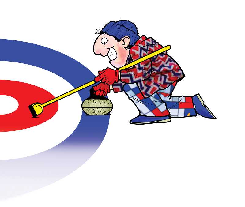 Curling is one of the sports contested in the winter Olympics