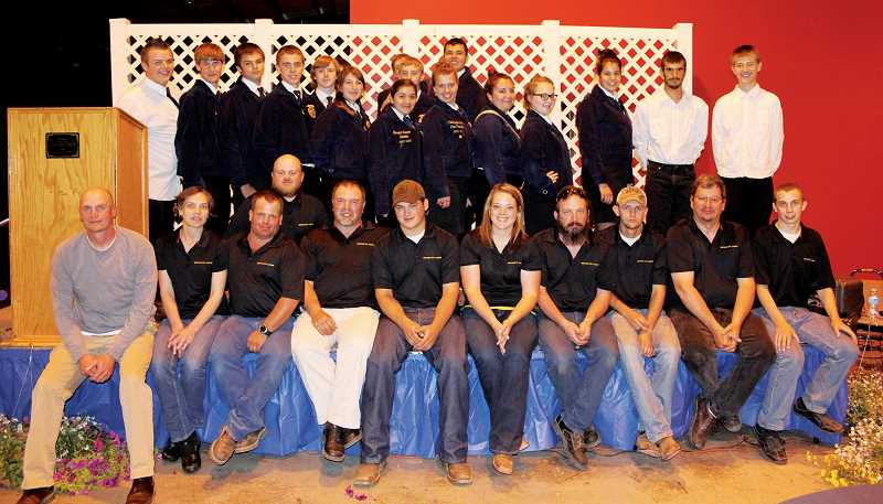by: KAREN LANG - Members of the Gervais FFA and its Alumni gather for a group shot at last years banquet.