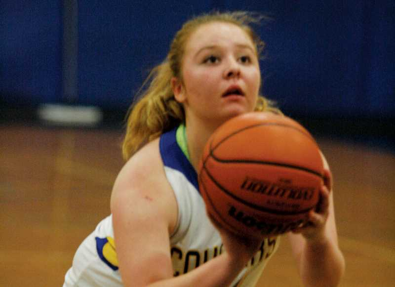 by: PHIL HAWKINS - Gervais senior Maria Kirk scored a team-high seven points on senior night in the Lady Cats 50-20 loss Friday to the No. 3 Willamina Bulldogs. Gervais was scheduled to travel to Westside Christian Tuesday to open the league playoffs.