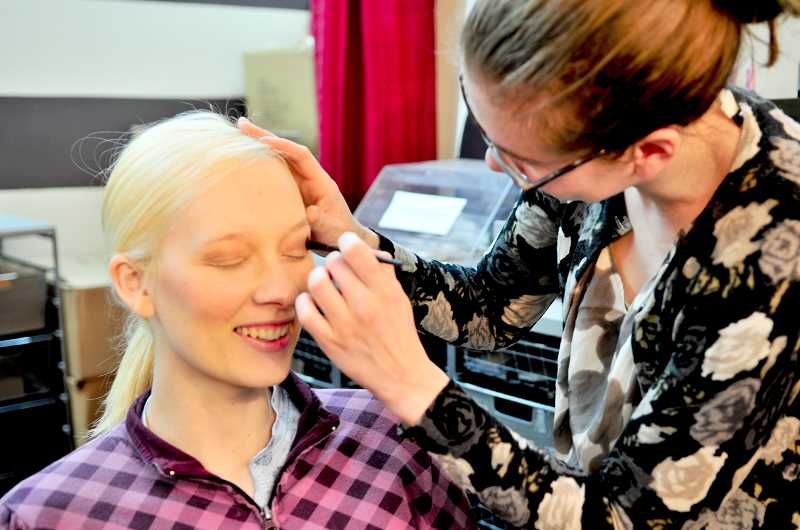 by: SUBMITTED PHOTO - Lessons in makeup application are one of the many areas in which job applicants are guided by Dress for Success.