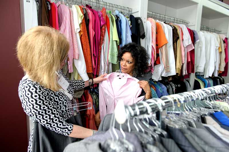 by: SUBMITTED PHOTO - A shopping trip is always given to women who come to Dress for Success. Dressing right is still the foundation for what the organization provides.