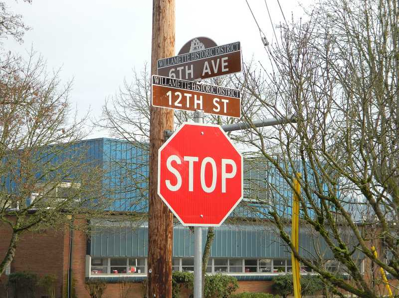 by: SUBMITTED PHOTO - Twenty-two historic area street signs were installed to commemorate Willamette's listing in the National Register of Historic Places.