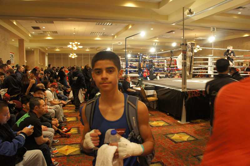 by: COURTESY PHOTO: JOCELYN TAYLOR - Cruz Solano won the 2014 Silver Glove Championship in St. Louis on Jan. 29, knocking off three opponents for his first ever title belt.