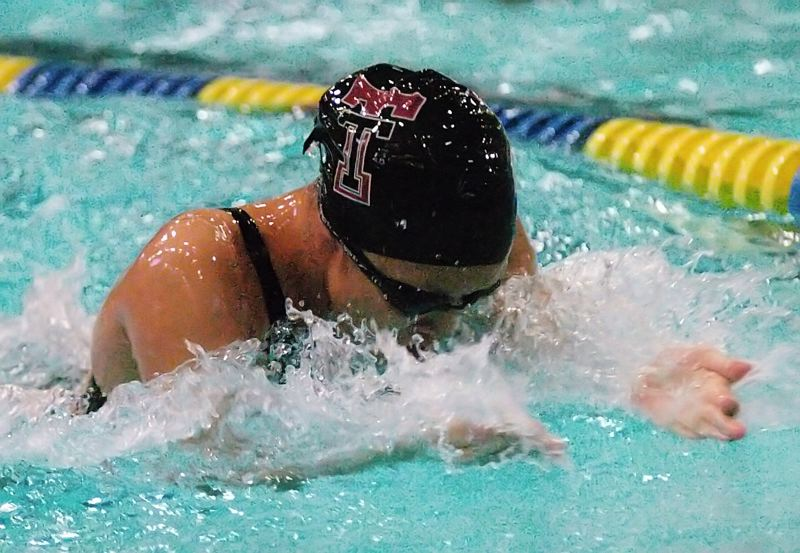 by: DAN BROOD - FOR THE TEAM -- Tualatin junior Ashley Tam helped the Timberwolves get a win in the 200-yard medley relay.
