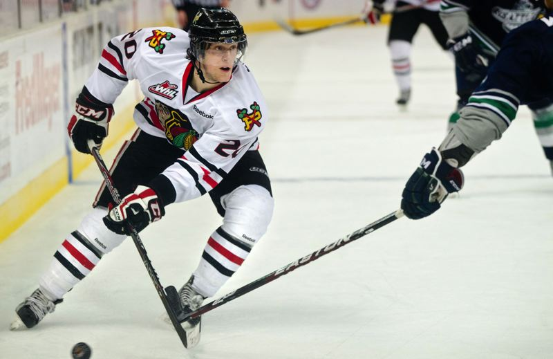by: TRIBUNE FILE PHOTO: NICK FOCHTMAN - Taylor Leier wasnt an instant star in the Western Hockey League, but his work ethic, versatility, leadership and talents have made him a key member of the Portland Winterhawks deep and potent forward line corps.