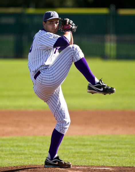 by: COURTESY OF UNIVERSITY OF PORTLAND - Junior Travis Radke leads the pitching staff for a University of Portland team that has been picked by West Coast Conference coaches to finish seventh in the league, but nearly won a series at UCLA last week. The Pilots grueling schedule continues with four games this week at Moraga, Calif.