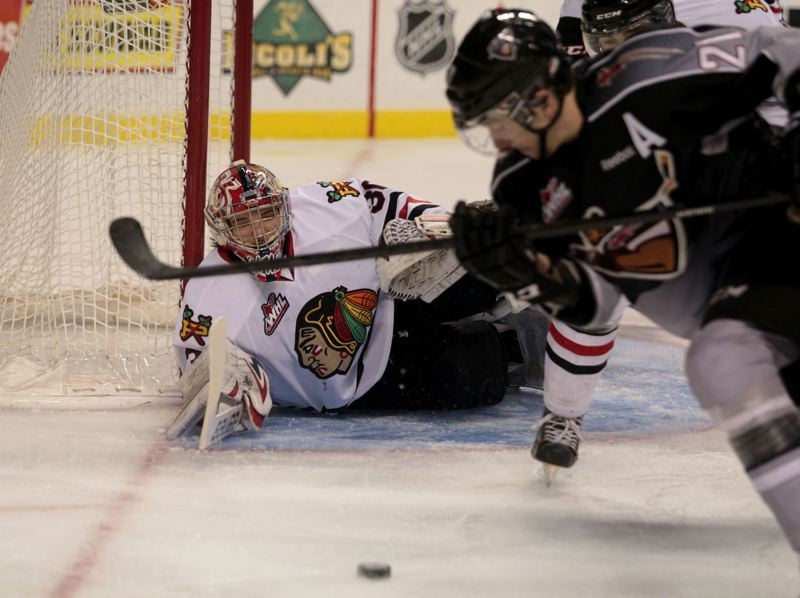 by: TRIBUNE PHOTO: JONATHAN HOUSE - Goalie Corbin Boes has won the past eight games for the Portland Winterhawks, filling in for the injured Brendan Burke.