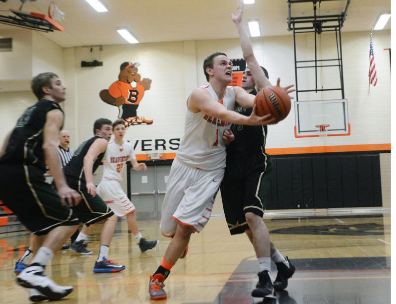 by: TIMES PHOTO: MATT SINGLEDECKER - Beaverton senior guard Martin Tannler scored 10 points for the Beavers against Jesuit on Wednesday.