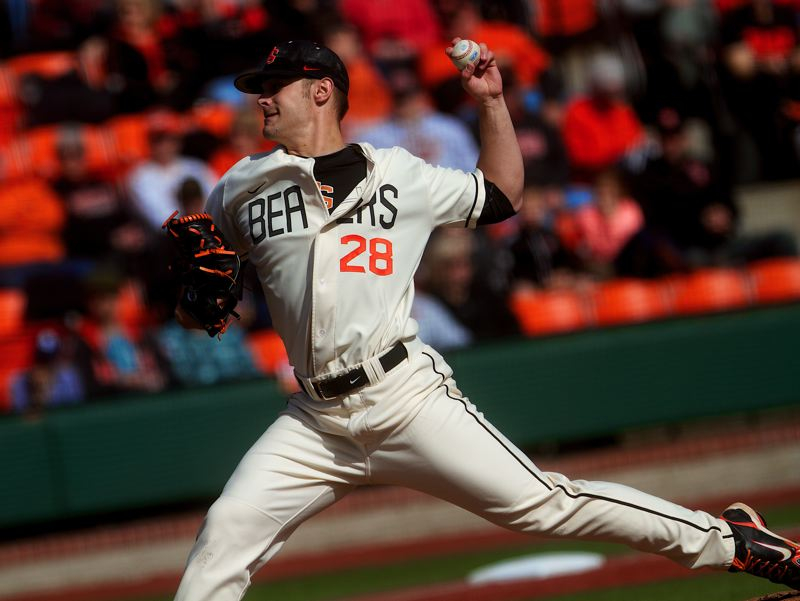 by: COURTESY OF ETHAN ERICKSON - Ben Wetzler's case with the NCAA has dragged on since November to now, the second weekend of the Oregon State baseball season, with the Beavers pitcher suspended indefinitely.