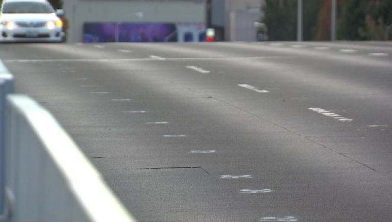 by: KOIN NEWS 6 - Deck panels on the Morrsion Bridge show signs of premature wear.