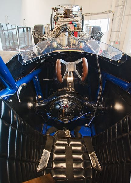 by: SPOKESMAN PHOTO: JOSH KULLA - This front-engine dragster once operated by the Northwest racing team of Peterson and Fitz forced the driver to sit on top of the axle and differential. Its part of the Pacific Northwest collection that will one day be on public display at the World of Speed in Wilsonville.