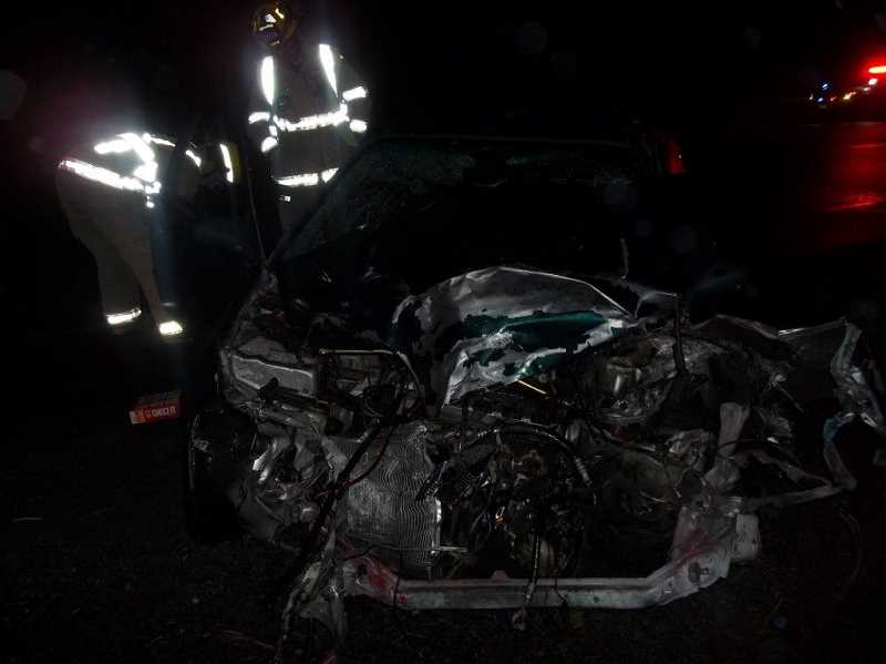 by: PHOTO COURTESY OF CROOK COUNTY SHERIFF'S OFFICE - Honda Civic driven by Redmond resident Shane Manary.