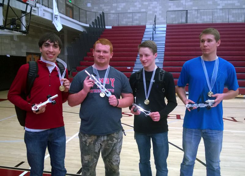 by: POST PHOTO: KYLIE WRAY - First, second, third and best in show winners Brody White, Connor Graham, Levi Hoff and Jacob Evens.