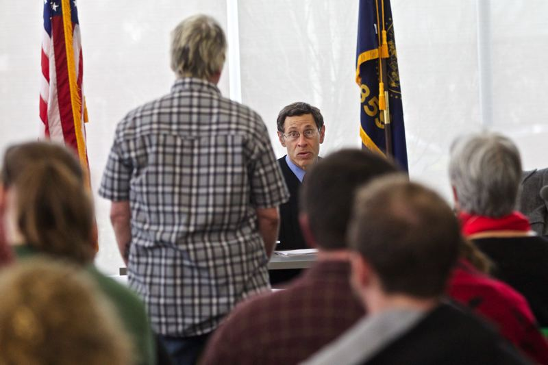 by: TRIBUNE PHOTO; JAIME VALDEZ - Friday community court (here with judge Randall Weisberg presiding), is held at Bud Clark Commons in Old Town as a way to bring the court to its homeless defendants. Those who appear can opt for engaging social services or performing community service to get their charges dropped.