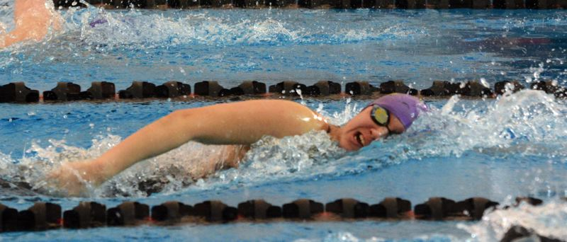 by: TIMES PHOTO: MATT SINGLEDECKER - Sunset junior Emily Cheng placed second in the 200 freestyle for the Apollos, who took fourth overall at the 6A state championships on Saturday.