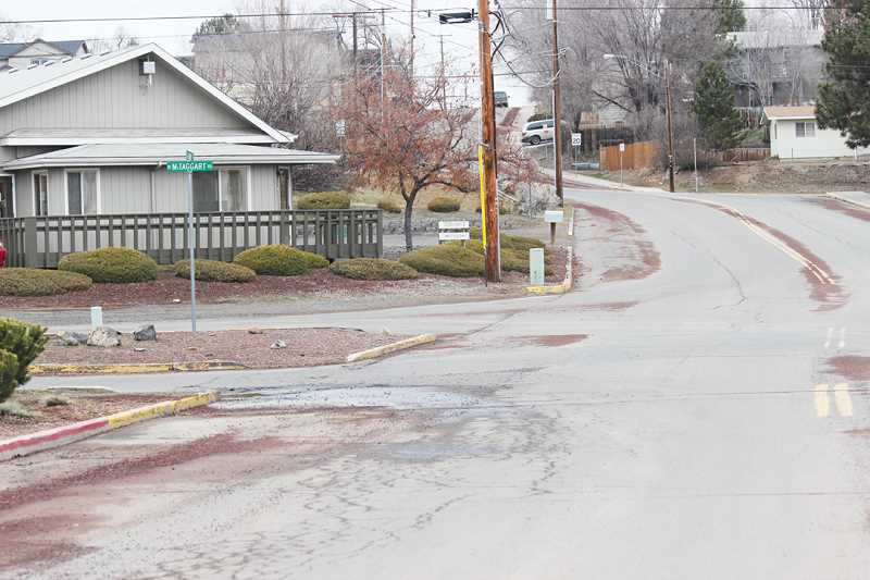 by: HOLLY M. GILL - The island at the corner of McTaggart Road and Buff Street will be removed to make the intersection safer as part of a Safe Routes to School  project, which will likely begin in the spring of 2015.