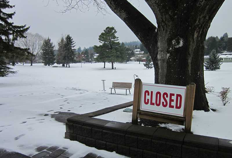 by: BARBARA SHERMAN - LOCKED UP TIGHT - The King City Golf Course was closed as was the Summerfield Golf Course, which was just as well as no one could have found their golf balls anyway.