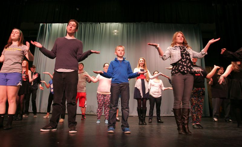 by: OUTLOOK PHOTO: JIM CLARK - Choir and theater students are performing a medley of musical pieces for their Broadway Musical Revue, opening Thursday, March 13, at Sam Barlow High School.