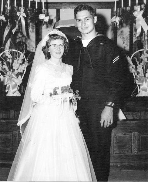 by: CONTRIBUTED PHOTO - Tom and Norma Clapper married Feb. 28, 1954.