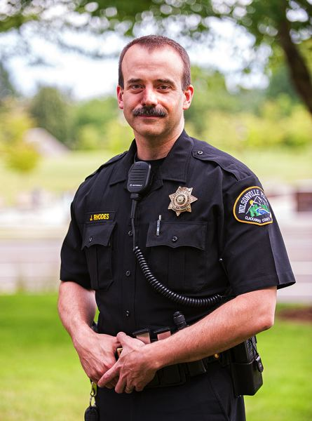 by: SPOKESMAN FILE PHOTO: JOSH KULLA - Former Wilsonville Police Chief James Rhodes, pictured here, has been promoted to Captain and will be replaced by Lt. Jeff Smith as the head of the city's police department.