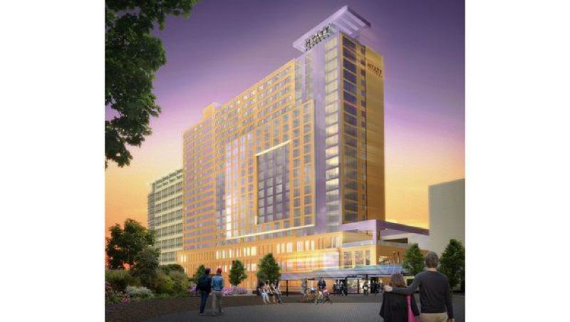 by: COURTESY RENDERING - Artist rendering of proposed Oregon Convention Center Headquarters Hotel.