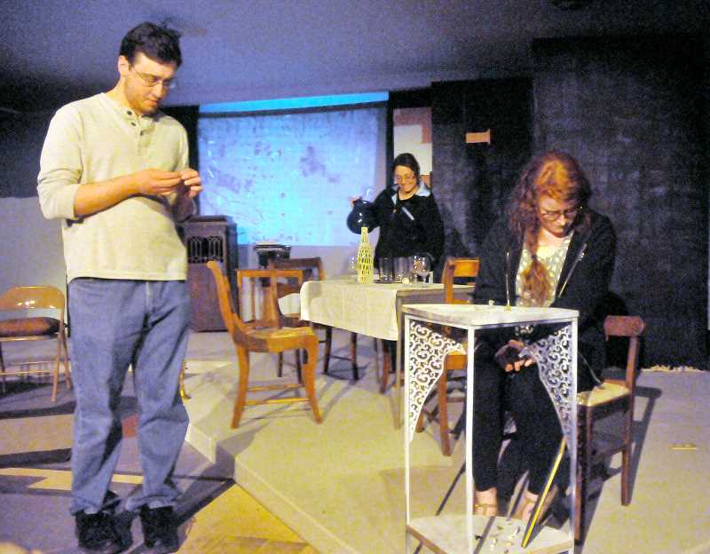 by: GARY ALLEN - Classic play -- Valley Repertory Theatre rehearsals are underway for the troupe's latest production of 'The Glass Menagerie.' The play opens Friday at the Masonic Lodge.