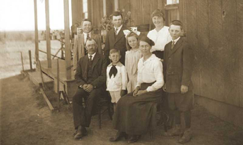 by: SUBMITTED PHOTO - The Luelling family pictured on their homestead north of Madras.