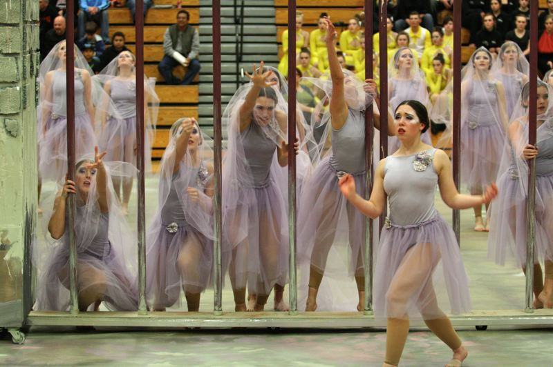 by: PHOTO BY: BRIAN MONIHAN - Clackamas High School earns a fourth-place finish in the Show Division.