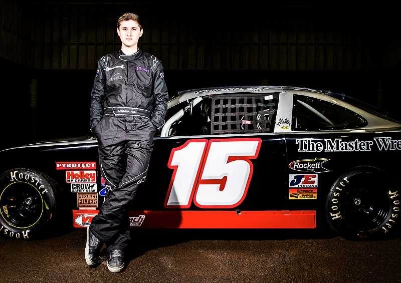 by: SUBMITTED PHOTO - Gracin Raz, a junior at Horizon Christian High School, expects to compete in 10 races this year, many of them with NASCAR-caliber drivers.