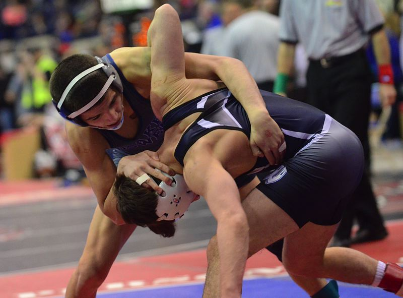 by: VERN UYETAKE - Cahleb Gonzalez put together a very strong state tournament, advancing to the state semifinals and only dropping one match to the eventual state champion at 120 pounds. Gonzales would finish third in state.