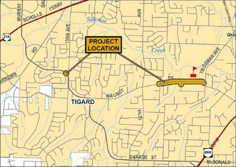 Crews plan to make several changes to Southwest Walnut Street in Tigard near Fowler Middle School and add a stop light near 135th Avenue.