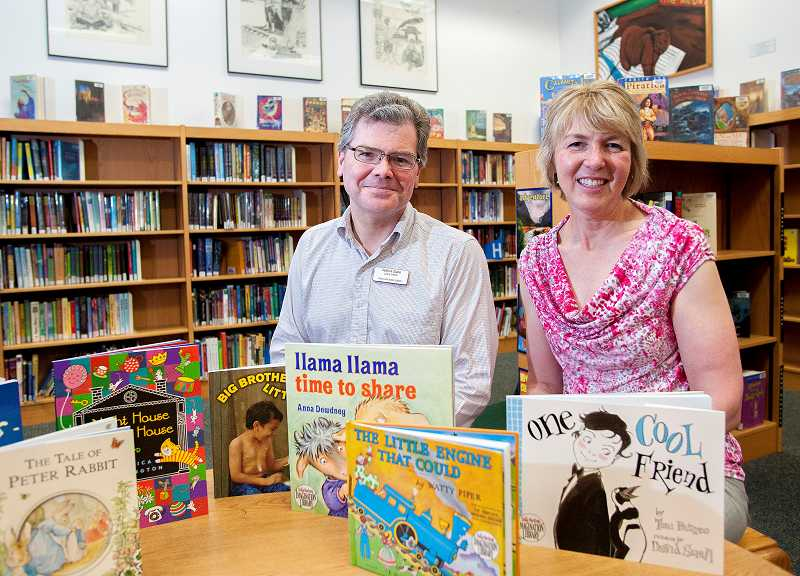 by: FILE PHOTO: JOSH KULLA - Pat Duke and Jan Rippey are working together to make sure Wilsonville children have books to read.