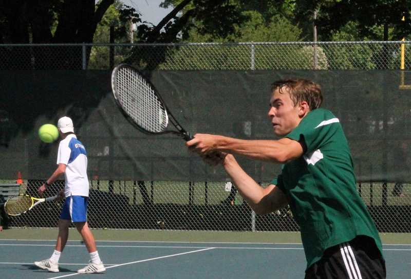 by: PAMPLIN MEDIA GROUP / FILE - Austin Berkey, who qualified for the state singles tournament last season, returns to lead the North Marion boys tennis team.