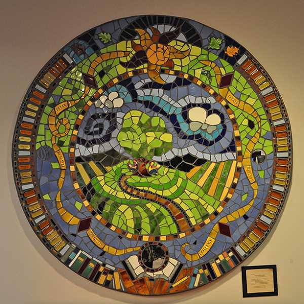 by: SUBMITTED PHOTO - This mosaic by artist Mark Brody is called 'Find Yourself in a Book.'