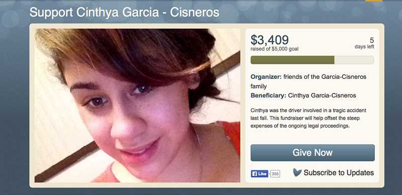 by: WEB PHOTO - Nearly 90 people have donated more than $3,500 to the online fund at youcaring.com/help-a-neighbor/support-cinthya-garcia-cisneros/144398. The fundraising goal is $5,000.