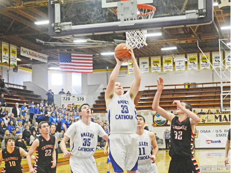 by: TIMES PHOTO: MATT SINGLEDECKER - Valley Catholic junior Drew VanderZanden was big off the bench against Creswell, scoring six points and dishing out three assists.