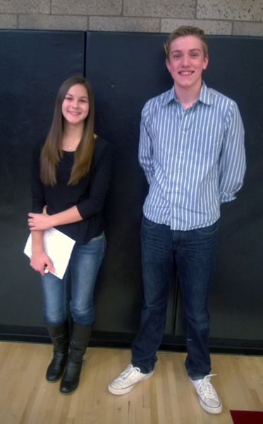by: POST PHOTO: KYLIE WRAY - Freshmen Dana Welty and Everett Davis.
