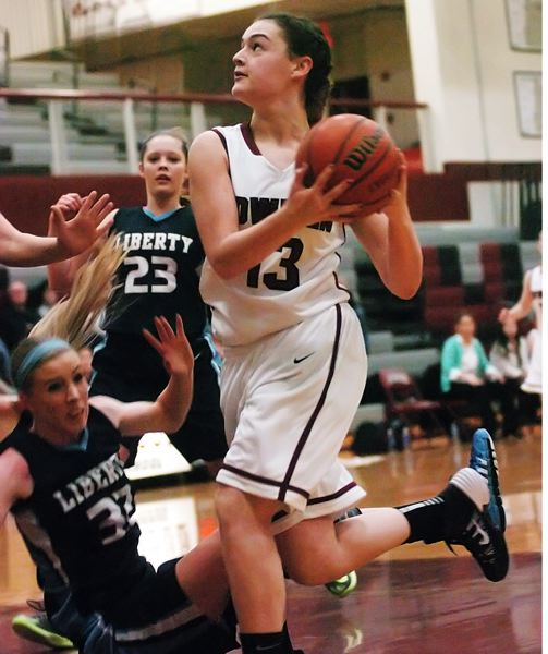 by: DAN BROOD - TOP SCORER -- Sherwood junior Mallory Shields, shown here in a game played earlier this season, scored 21 points in the playoff win at Marist.