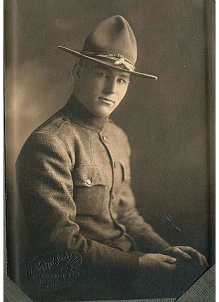 by: COURTESY OF ROBERT SHORT - Military memorabilla collector Robert Short wants to know if anyone recognizes this Portland photo of an unnamed World War I soldier. Short says it looks just like his great nephew.