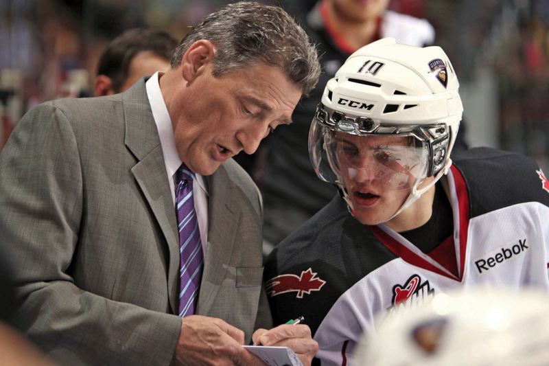 by: COURTESY OF CHRIS RELKE/VANCOUVER GIANTS - Don Hay (left) brings his Vancouver Giants to Portland for a first-round Western Hockey League playoff series against the favored Winterhawks.