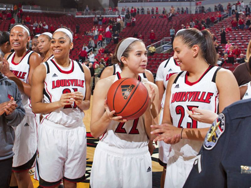 by: COURTESY OF UNIVERSITY OF LOUISVILLE - Sisters Shoni (right) and Jude Schimmel have been part of a potent Louisville Cardinals backcourt.