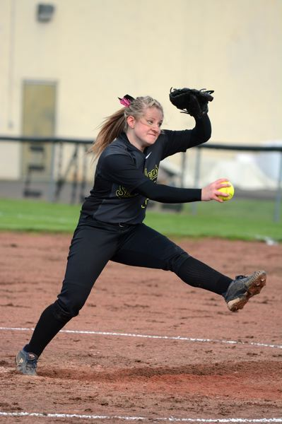 by: JOHN WILLIAM HOWARD - Lion sophomore Hannah Jordan wasn't expected to pitch in the season opener, but was called upon after regular starter Mariah Mulcahy was scratched for the game. Jordan struck out four, allowing just two runs in the loss.