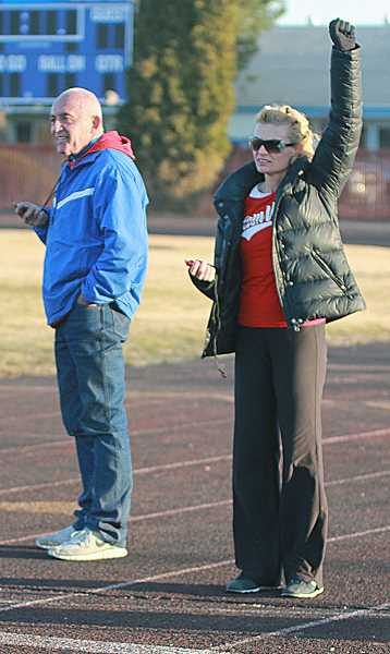by: PIONEER FILE  PHOTO - The Bowermans, Jon, left, and Melissa have a proven track record when it comes to coaching track. They take over a Madras program that wants to be the best it can.
